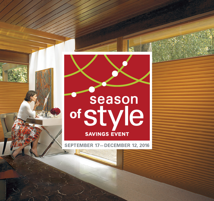 Season of Style Hunter Douglas Sale